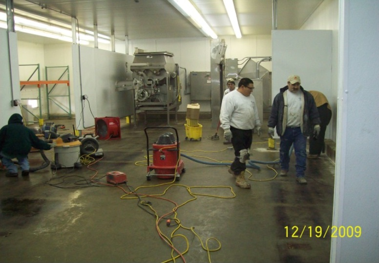 New Food Processing Room Floor Repair Mobile Enterprises